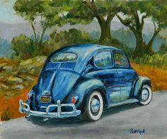 57 Vee Dub  Volkswagen Bug  FATHERS DAY GIFT  original oil