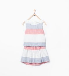 Image 2 of Striped dress with open back from Zara