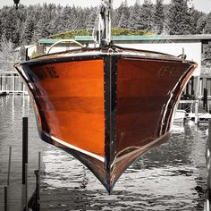 Launching a beautiful book-matched mahogany Chris-Craft... Summer is getting…