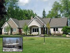 Ranch Style Home Renovation Ideas Before And After Ranch Remodel - Home exterior remodeling before and after pictures