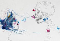 Away, but not enough -  Illustrations by Italian Traditional Art artist Fleur Lilium.