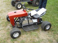 Mowcart = 1/2 Lawn Mower + 1/2 Go Cart