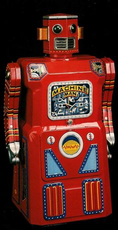 The history of vintage tin toy robots