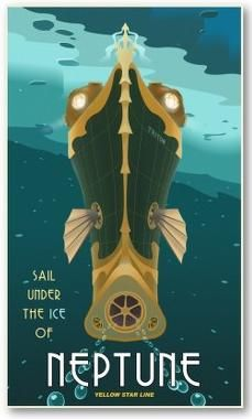 The Steampunk Home: RetroFuturistic Travel Posters for your Home
