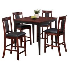 Casual 5 Piece Counter Height Pub Set