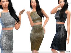 ekinege's Metallic Two Piece Midi Dress