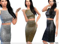 ekinege's Metallic Two Piece Midi Dress
