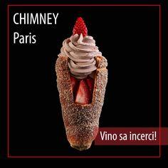 Căpșuni proaspete ☑️ înghețată artizanală de ciocolata☑️ nuci ☑️ Chimney Cake, Bakery, Good Food, Menu, Menu Board Design, Healthy Food, Yummy Food, Bakery Business, Bakeries