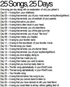 yeaaay let's play 25songs25days       #Day01 - a song from your childhood