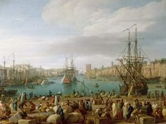 """""""Vue de l'Intérieur du port de Marseille"""",         par Joseph Vernet"""