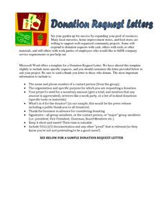 Sample Church Donation Letter | Sample Donation Request letter Donation Letter Samples, Donation Letter Template