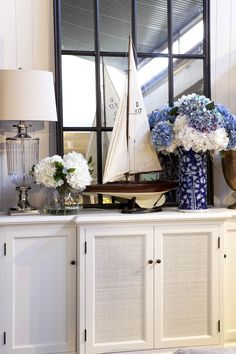 Our collection of artificial hydrangeas are a great way to bring colour and life to a space and add that touch of the Hamptons. Nantucket Cottage, Beach Cottage Style, Beach Cottage Decor, Coastal Cottage, Coastal Style, Coastal Living, Nantucket Island, Hamptons Style Decor, The Hamptons