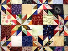 https://flic.kr/p/DbkxRF | A Gathering of Scraps - close | Lots of fabrics!