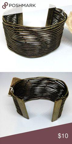 Bracelet Bangle Cuff Brass Metal Wire Jewelry New with tag... Decree. Brass metal bangle cuff fashion bracelet. Half-Round. 3-inch diameter, 2-inch width. One size. Not intended for children 12 and under. Decree Jewelry Bracelets