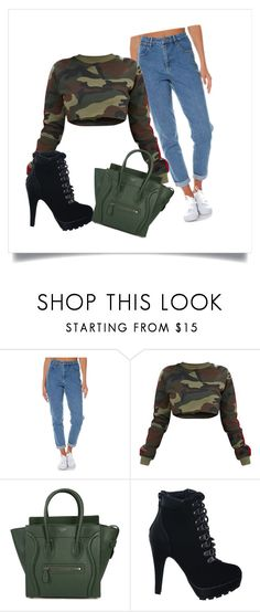 """Untitled #9"" by vanessa-blomerus on Polyvore featuring Wrangler and CÉLINE"