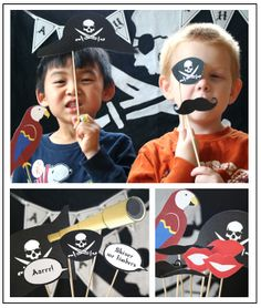 Pirate photo booth. #pirate #pirateparty