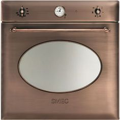 Convection oven 60 cm, copper color. Aesthetics Colonial. Features 6 functions copper finishes analog clock timer timer with end of cooking...