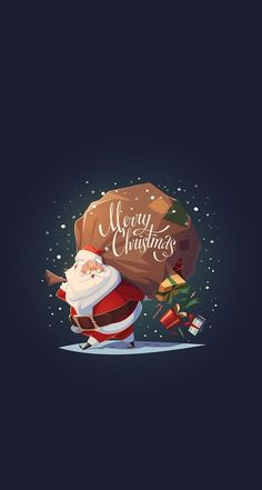 Santa Merry Christmas iPhone Hintergrundbild Kostenlos - GetintoPik, Erasable (Vinyl) Wall papers: It is