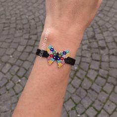 Bead Jewellery, Diy Jewelry, Beaded Jewelry, Bead Loom Bracelets, Ankle Bracelets, Jewelry Bracelets, Loom Beading, Beading Patterns, Hanging Beads