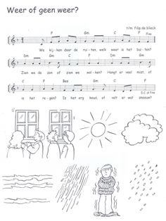 Lied om 's morgens de dag te starten in de weken waarin we werken aan het wero-thema 'Het weer'.