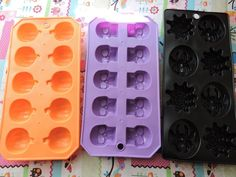 New Pumpkin Spider Skull Halloween Silicone Mold Ice Tray Resin Cabochon Decoden…