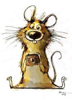 :-☽illustration by Dainius Šukys Art And Illustration, Cute Drawings, Animal Drawings, Drawing Cartoon Animals, Cartoon Fun, Whimsical Art, Art Plastique, Rock Art, Cute Art