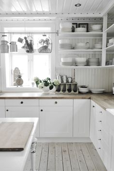 White Kitchen Shelves open kitchen shelves farmhouse style | open shelves, white