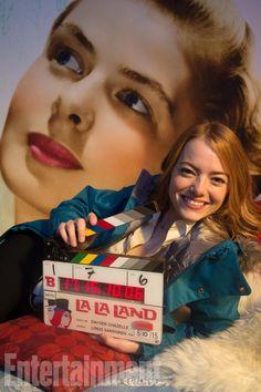 Emma Ston La la land film making Grace Kelly Ryan Gosling, Emma Stone, Damien Chazelle, Fandom, Entertainment, Scene Photo, Illustrations, Good Movies, Filmmaking