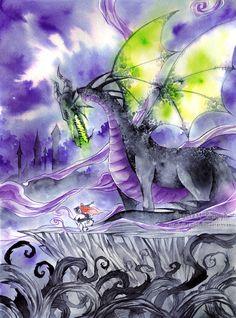 053 - Dragon Maleficent by Scarlett-Aimpyh on deviantART