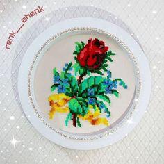 Rose flower hama mini beads by renk__ahenk