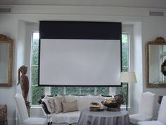 drop down screen for tv  projector