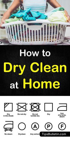 dc3465ac The how to dry clean at home article includes tips on DIY dry cleaning even  delicate