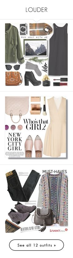 """""""LOUDER"""" by agnesegundega ❤ liked on Polyvore featuring Chicwish, MANGO, Miss Selfridge, H&M, Casetify, Coach 1941, Quay, Falke, Smashbox and Marc Jacobs"""