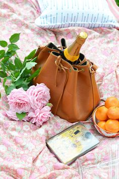 Champagne picnic!! ♥Aline from simplyaline.com! ❤️  (Via Mimosa Lane Blog)