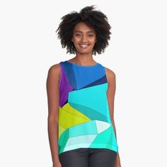 #crystal #stone #multicolor #colorful #crystalpattern #brightbackground #simplepattern #gems #geometrical #forms #shapes #sleevelesstop #findyourthing