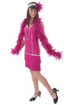 Do you want to be the cat's pajamas? There's no better way than with our Plus Size Sequin & Fringe Fuchsia Flapper costume!
