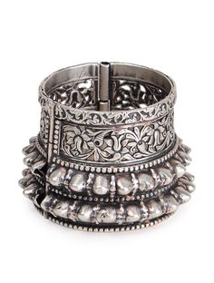 Boho Bangle (Hinge Opening) - from a remote tribal village in India, almost a century old and restored to its original beauty.
