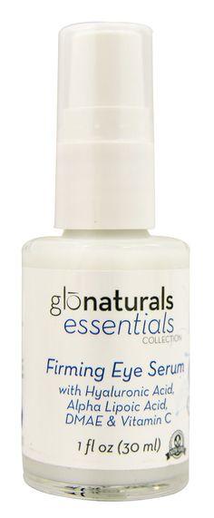 Glonaturals Essentials Collection - Firming Eye Serum with Hyaluronic Acid, Alpha Lipoic Acid, DMAE & Vitamin C - Non-GMO