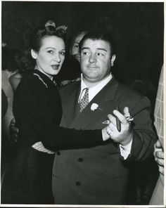 A vintage press shot of comic legend Lou Costello with his wife Anne Battler at the Copacabana night club, circa 1940s! Photo courtesy of Terry Soto