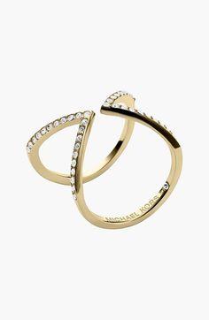 MICHAEL Michael Kors Michael Kors Pavé Open Ring available at #Nordstrom - rose gold! $65