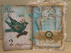 Exactly how I want my journal to turn out!  http://vintiquitiesworkshop.blogspot.com/2010/09/artisan-fabric-art-journal.html
