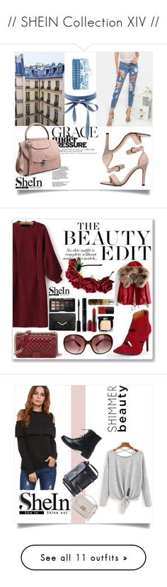 """// SHEIN Collection XIV //"" by nura-akane ❤ liked on Polyvore featuring Charlotte Russe, Oliver Peoples, WithChic, By Terry, By Lassen, Élitis, Bobbi Brown Cosmetics, GALA and Stila"