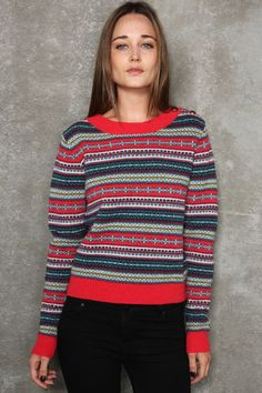 Fair Isle Cropped Sweater - Urban Outfitters