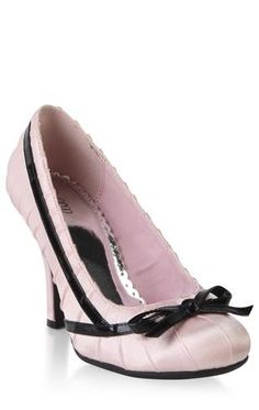 $20.50 high heel with bow and pleated satin .... I can see me using them after the wedding as well with some jeans and a pink or black shirt.