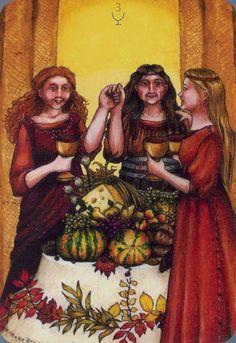 Three of Cups - Anna.K Tarot by Anna Klaffinger