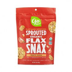 Now eating pizza can be guilt free and still taste delicious with Organic Raw Pizza Flax Snax by Go Raw. Enjoy snacks with flavorful wholesome ingredients. Gourmet Recipes, Snack Recipes, Healthy Recipes, White Soup, Marinated Salmon, Mozzarella Salad, Dried Vegetables, Fennel Salad, Healthy Food Delivery