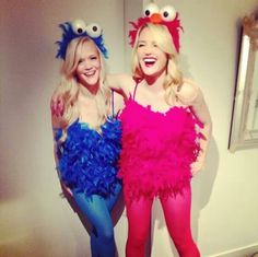 Cookie Monster & Elmo #costumes