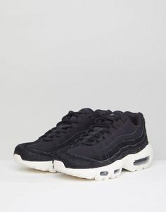 4a25ebf54aa5d0 Nike Air Max 95 Lx Trainers In Black at asos.com