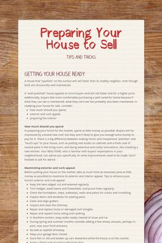 Preparing Your House to Sellwill connect you to smore a site for making flyers. I give and accept referrals Keep me in mind. Sell Your House Fast, Selling Your House, Selling House Tips Cleaning, Selling Real Estate, Real Estate Tips, Real Estate Business, Real Estate Marketing, Online Business, Make A Flyer