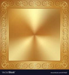 Abstract metal gold frame with ornament Royalty Free Vector Flower Background Wallpaper, Frame Background, Flower Backgrounds, Pretty Wallpapers, Blue Wallpapers, Business Cards Layout, Church Design, Environmental Art, Grief